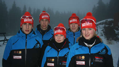 Biathleten des Ski-Clubs Willingen zum Training in Winterberg