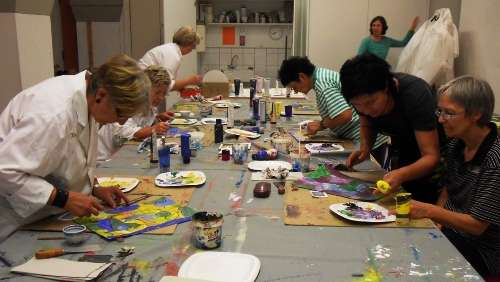 "Kunstworkshop Spachteln im ""Vonderaumuseum"""