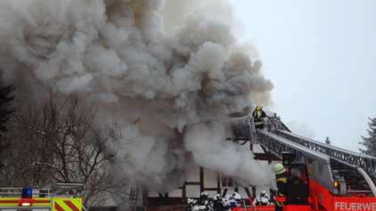 Aktuell!!! Klosterschänke steht in Flammen   Hersfeld-Rotenburg