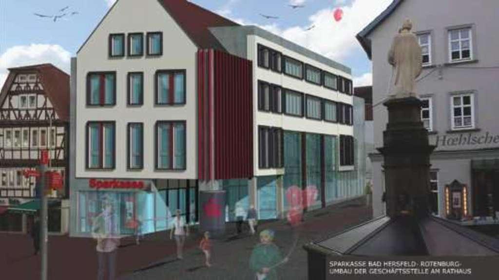 Sparkassenfiliale Am Rathaus Wird Saniert Hersfeld Rotenburg
