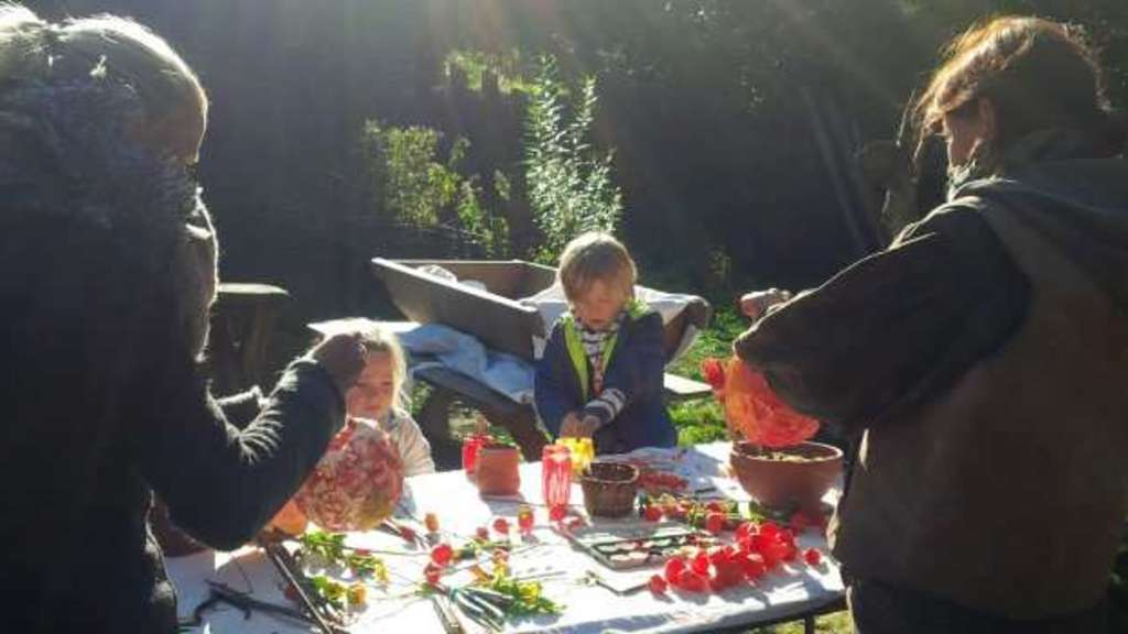 Ein tag im wald herbstfest im mittelalterdorf steinrode for Herbstschmuck basteln