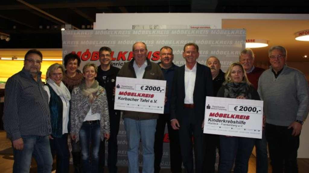 Mobelkreis Spendet 4 000 Euro Waldeck Frankenberg