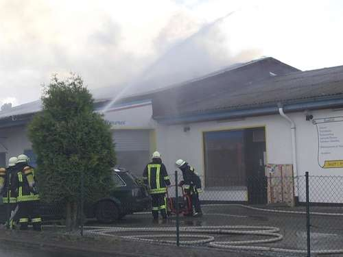 Brand in Lackiererei