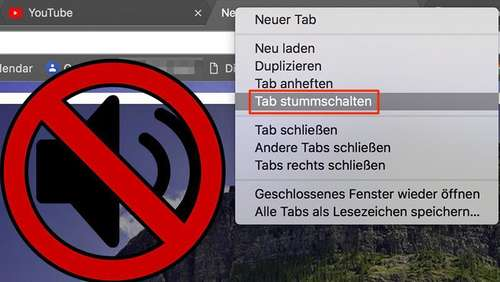 Tabs in Chrome stummschalten