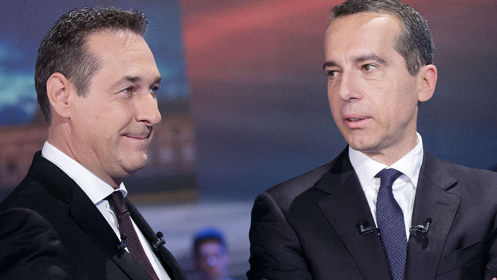 Bald Koalitionspartner? FPÖ-Chef Heinz-Christian Strache und SPÖ-Kanzler Christian Kern.