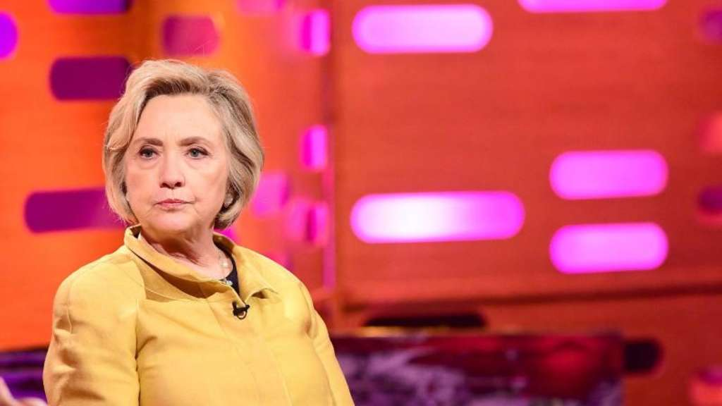 Hillary Clinton in einer BBC-Talkshow in London. Foto: Ian West