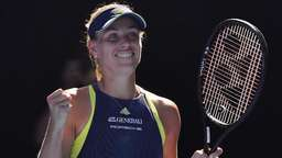 Kerber in der Night Session gegen Scharapowa