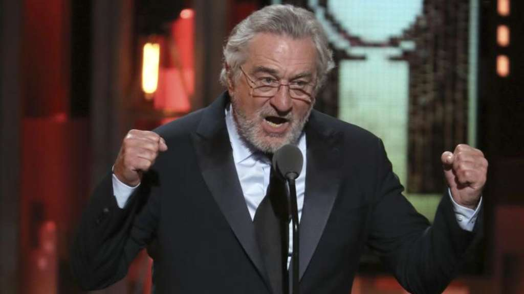 In Kampfeslaune: Robert De Niro bei der Verleihung der Tony Awards in der Radio City Music Hall. Foto: Michael Zorn