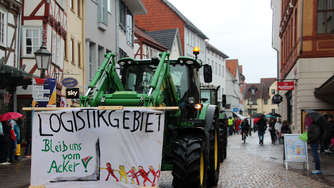 Demonstration in Eschwege gegen das Logistikzentrum in Neu Eichenberg