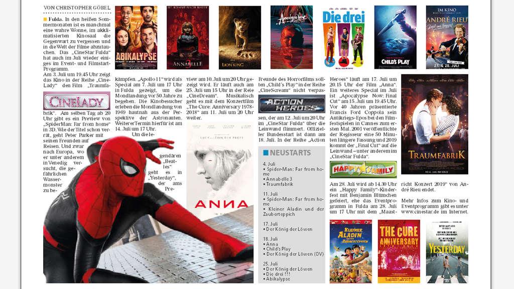 Kinoprogramm Abensberg