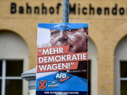 AfD wirbt in Brandenburg mit Willy Brandt