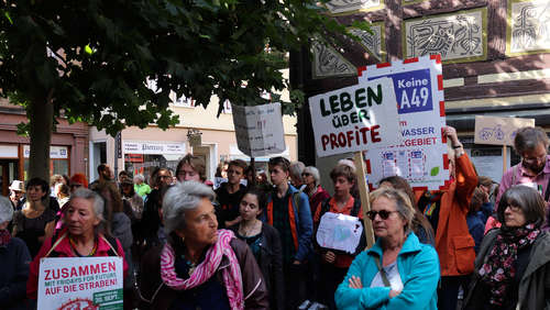 """Make love not cars"": Klimastreik in Alsfeld"