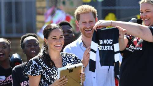 Harry und Meghan beginnen Afrikareise