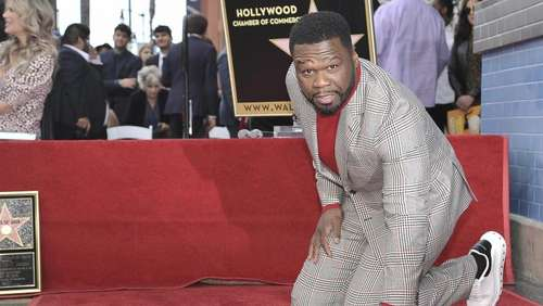 "US-Rapper ""50 Cent"" mit Stern in Hollywood gefeiert"
