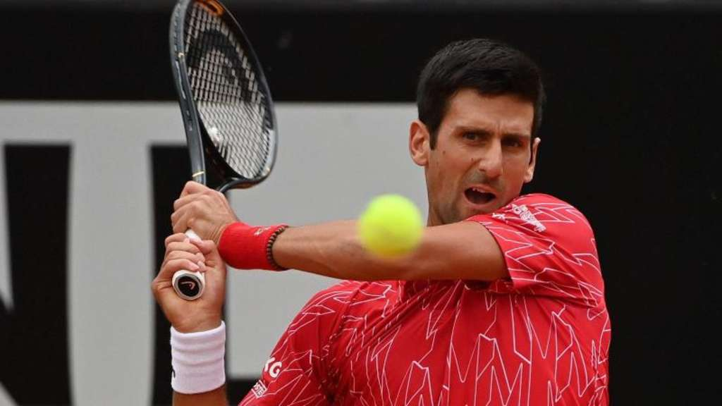 Hat das Turnier in Rom mit einem Rekord gewonnen: Novak Djokovic in Aktion. Foto: Alfredo Falcone/LaPresse via ZUMA Press/dpa
