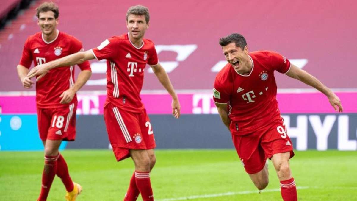 Fussball Bayern Frankfurt