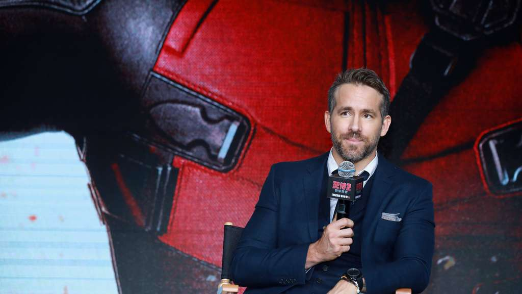 Ryan Reynolds bei der Premiere von Deadpool 2 im Park Hyatt Hotel in Peking, China.